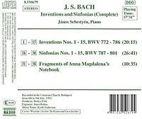 Inventionen und Sinfonien - Produktdetailbild 1