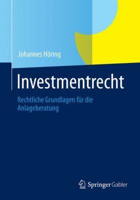 Investmentrecht, Johannes Höring