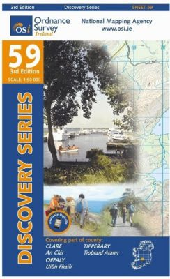 Irish Discovery Series 59. Clare, Offaly, Tipperary 1 : 50 000