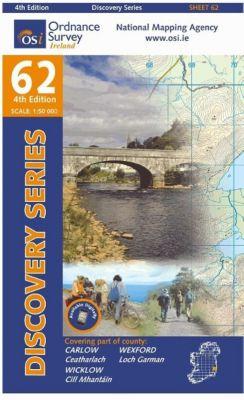 Irish Discovery Series 62. Carlow, Wexford, Wicklow 1 : 50 000