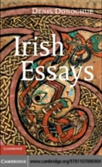 denis donoghue irish essays Irish essays by denis donoghue available in miscellaneous on powellscom, also read synopsis and reviews denis donoghue has been a key figure in irish studies and an.