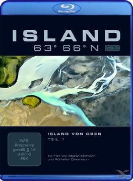 Island 63° 66° N - Island von oben