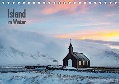 Island im Winter (Tischkalender 2019 DIN A5 quer), Nick Wrobel