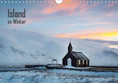 Island im Winter (Wandkalender 2019 DIN A4 quer), Nick Wrobel