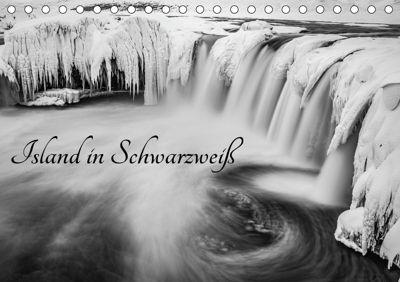Island in Schwarzweiß (Tischkalender 2019 DIN A5 quer), Markus van Hauten