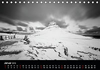 Island in Schwarzweiß (Tischkalender 2019 DIN A5 quer) - Produktdetailbild 1