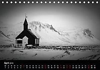 Island in Schwarzweiß (Tischkalender 2019 DIN A5 quer) - Produktdetailbild 4