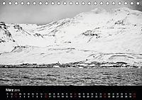Island in Schwarzweiß (Tischkalender 2019 DIN A5 quer) - Produktdetailbild 3