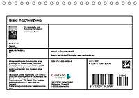 Island in Schwarzweiß (Tischkalender 2019 DIN A5 quer) - Produktdetailbild 13