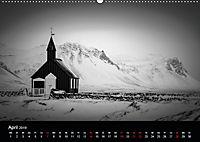 Island in Schwarzweiss (Wandkalender 2019 DIN A2 quer) - Produktdetailbild 4