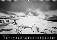 Island in Schwarzweiss (Wandkalender 2019 DIN A2 quer) - Produktdetailbild 1