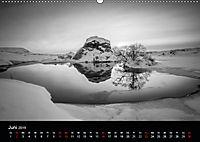 Island in Schwarzweiss (Wandkalender 2019 DIN A2 quer) - Produktdetailbild 6