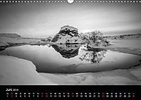 Island in Schwarzweiß (Wandkalender 2019 DIN A3 quer) - Produktdetailbild 2