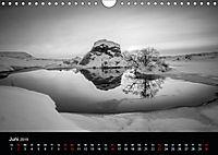 Island in Schwarzweiß (Wandkalender 2019 DIN A4 quer) - Produktdetailbild 6