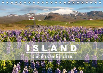 Island: Isländische Kirchen (Tischkalender 2019 DIN A5 quer), Norman Preissler