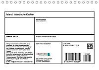Island: Isländische Kirchen (Tischkalender 2019 DIN A5 quer) - Produktdetailbild 13