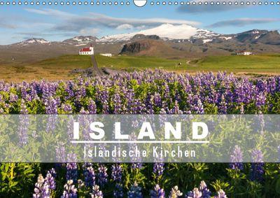 Island: Isländische Kirchen (Wandkalender 2019 DIN A3 quer), Norman Preissler