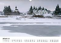 Island: Isländische Kirchen (Wandkalender 2019 DIN A3 quer) - Produktdetailbild 1