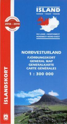 Island. Nordwest 1 : 300 000