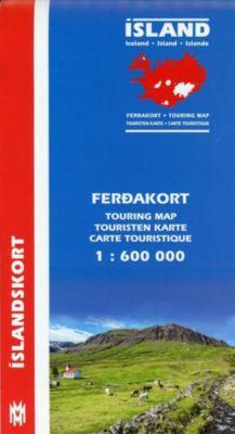 Island Touristen-Karte; Island Ferdakort; Iceland Touring Map; Islande carte touristique