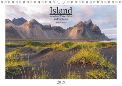 Island: zwischen Wasserfällen und Vulkanen 2019 (Wandkalender 2019 DIN A4 quer), Michael Heber