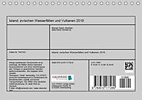 Island: zwischen Wasserfällen und Vulkanen 2019 (Tischkalender 2019 DIN A5 quer) - Produktdetailbild 13