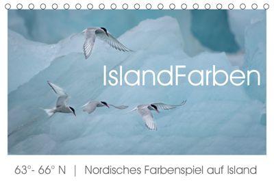 IslandFarben. 63°- 66°N Nordisches Farbenspiel auf Island (Tischkalender 2019 DIN A5 quer), Irma van der Wiel