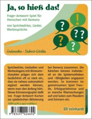 Ja, so hieß das!, Spiel, Stefan Gutensohn, Antje Siebert-Görlitz