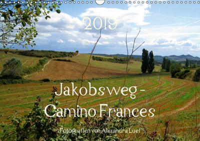 Jakobsweg - Camino Frances (Wandkalender 2019 DIN A3 quer), Alexandra Luef