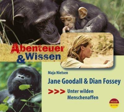 Jane Goodall & Dian Fossey, 1 Audio-CD, Maja Nielsen