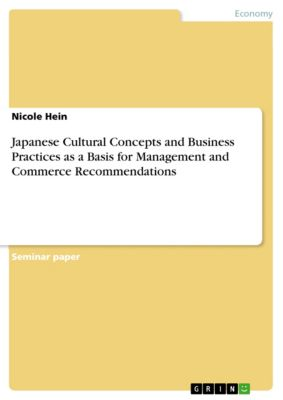 Japanese Cultural Concepts and Business Practices as a Basis for Management and Commerce Recommendations, Nicole Hein