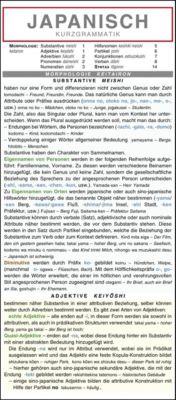 Japanisch - Kurzgrammatik. Die komplette Grammatik anschaulich und verständlich dargestellt, Autorenkollektiv Holman