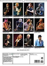 Jazz Saxophonists 2019 (Wall Calendar 2019 DIN A3 Portrait) - Produktdetailbild 13