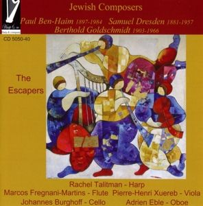 Jewish Composers The Escapers, Rachel Talitman, Xuereb, Fregnani-Martins, Eble, Burgh