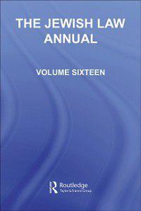Jewish Law Annual Volume 16