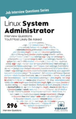 Job Interview Questions series: Linux System Administrator Interview Questions You'll Most Likely Be Asked