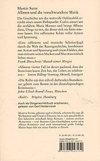 Johann Friedrich Allmen Band 4: Allmen und die verschwundene María - Produktdetailbild 1