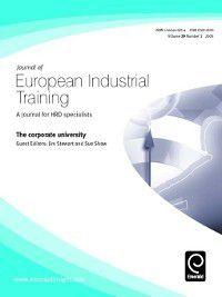 Journal of European Industrial Training: Journal of European Industrial Training, Volume 29, Issue 1