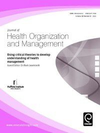 Journal of Health Organization and Management: Journal of Health Organization and Management, Volume 19, Issue 3