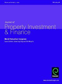 Journal of Property Investment & Finance: Journal of Property Investment & Finance, Volume 20, Issue 3