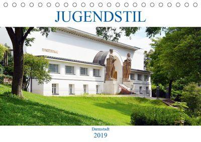 Jugendstil - Darmstadt (Tischkalender 2019 DIN A5 quer), Wolfgang Gerstner