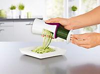 Julienne und Spiralschneider mit Reinigungsbürste, brombeere/weiß - Produktdetailbild 1