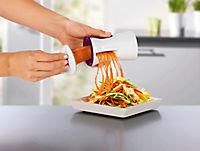 Julienne und Spiralschneider mit Reinigungsbürste, brombeere/weiß - Produktdetailbild 2