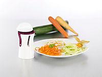 Julienne und Spiralschneider mit Reinigungsbürste, brombeere/weiß - Produktdetailbild 3