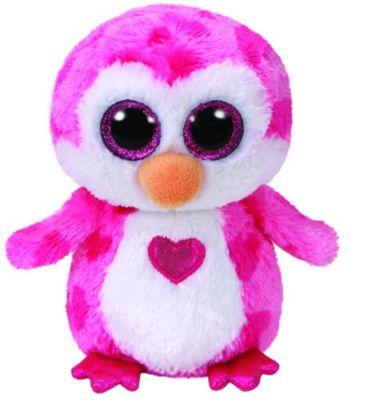 Juliet, Pinguin pink m. Herz 15cm