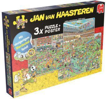 Jumbo - 3 in 1 Puzzle von Jan van Haasteren mit Bierdeckeln & Poster, Jan van Haasteren