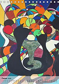 Kätz, Petra Kolossa, Pop-Art-Kunstdrucke (Tischkalender 2019 DIN A5 hoch) - Produktdetailbild 1