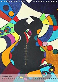 Kätz, Petra Kolossa, Pop-Art-Kunstdrucke (Wandkalender 2019 DIN A4 hoch) - Produktdetailbild 1