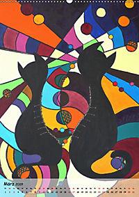 Kätz, Petra Kolossa, Pop-Art-Kunstdrucke (Wandkalender 2019 DIN A2 hoch) - Produktdetailbild 3