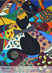 Kätz, Petra Kolossa, Pop-Art-Kunstdrucke (Wandkalender 2019 DIN A2 hoch) - Produktdetailbild 9